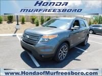 Clean CARFAX. Gray 2015 Ford Explorer XLT AWD 6-Speed