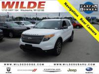 Options:  2015 Ford Explorer Xlt|Oxford White/Charcoal