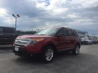 2015 Ford Explorer in Ruby Red with Medium Light Stone