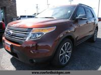 Red 2015 Ford Explorer XLT FWD 6-Speed Automatic with