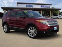 Red used 2015 Ford Explorer XLT 3-row SUV, FWD, 6-Speed