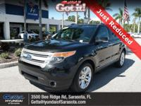 Clean CARFAX. This 2015 Ford Explorer XLT in Tuxedo
