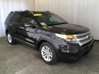 This 2015 Ford Explorer XLT comes equipped with black