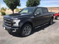 Black 2015 Ford F-150 4D SuperCrew 4WD 6-Speed