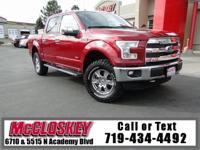 ONE OWNER! 2015 Ford F-150! 4WD, Super Crew, Leather,