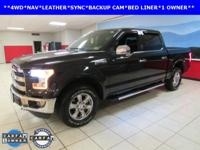 ONE OWNER, BACKUP CAM, LEATHER, NAVIGATION, SYNC, F-150