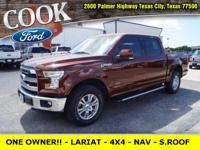 * ONE OWNER!! - ONLY 26K MILES - LARIAT - 4X4 -