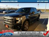 This 2015 Ford F-150 4WD SuperCrew 145 Lariat is