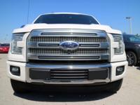 Options:  2015 Ford F-150 Platinum|White Platinum