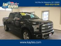 Ford Certified! 2015 Ford F-150 Platinum 4X4 Crew Cab