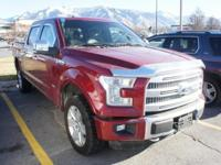 Ruby Red 2015 Ford F-150 Platinum 4WD 6-Speed Automatic