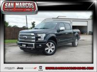 Options:  2015 Ford F-150 Platinum|Black/|V6 3.5 L