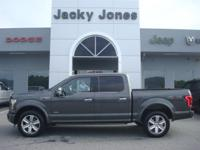 2015 Ford F-150 Platinum in Gray, *One Owner*, *White