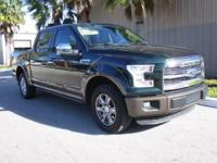 This 2015 Ford F-150 Lariat has Leather seats, Power