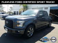 ***WOW! FLAWLESS FORD CERTIFIED 2015 F-150 CREW CAB