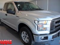 CARFAX One-Owner. SILVER 2015 Ford F-150 XL 4WD 6-Speed