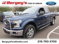 Certified. Blue 2015 Ford F-150 XLT 4WD 6-Speed