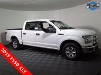 2015 Ford F150 XLT Super Crew with a 5.0L V8 Engine.
