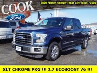 CARFAX One-Owner. Blue Jeans Metallic 2015 Ford F-150