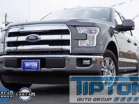 2015 Ford F-150 in Gray exterior and Black Leather,