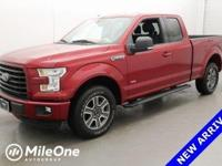 CARFAX One-Owner. Clean CARFAX. Red 2015 Ford F-150 XLT