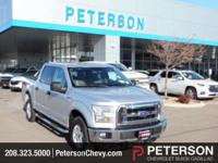 Our 2015 Ford F-150 XLT SuperCrew 4X4 in Silver has