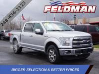 2015 Ford F-150 4WD, ABS brakes, Air Conditioning,