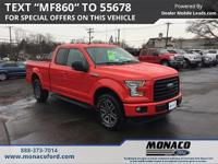 CARFAX One-Owner. Race Red 2015 Ford F-150 XLT 4x4 4WD