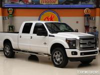 The 2015 Ford Super Duty F-250 Platinum 4x4 is Ford's