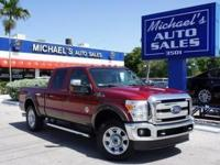 Options:  2015 Ford F-250Sd Lariat|Red|4Wd. Diesel! Red