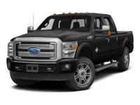ONE OWNER, LEATHER, and NAVIGATION. F-250SD Platinum,