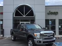 Clean CARFAX. Oxford White 2015 Ford F-250SD XLT 4WD
