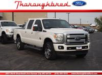 Presenting our handsome 2015 Ford F250 Platinum Crew