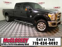 Low miles 2015 Ford F-350SD Crew Cab Lariat offering