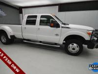 CARFAX One-Owner. Clean CARFAX. White 2015 Ford F-350SD