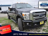 Bold and beautiful, this 2015 Ford Super Duty F-350 SRW