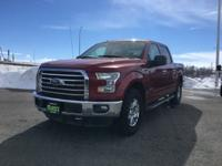 Red 2015 Ford F-150 4WD 6-Speed Automatic Electronic