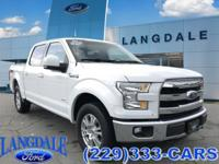 CARFAX One-Owner. Oxford White 2015 Ford F-150 Lariat