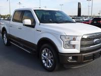 CARFAX One-Owner. White 2015 Ford F-150 Lariat RWD