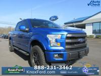 Blue Flame Metallic 2015 Ford F-150 Lariat 4WD 6-Speed