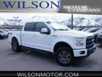 CARFAX One-Owner. White 2015 Ford F-150 Lariat 4WD