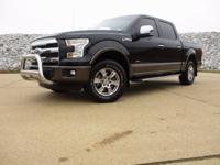 CARFAX One-Owner. Black 2015 Ford F-150 Lariat 4WD