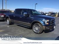 CARFAX One-Owner. Blue 2015 Ford F-150 Lariat 4WD
