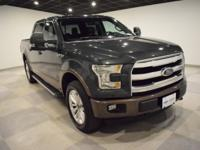CARFAX One-Owner. Guard Metallic 2015 Ford F-150 Lariat
