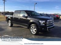 CARFAX One-Owner. Black 2015 Ford F-150 Platinum 4WD