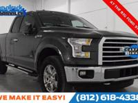 Clean CARFAX. Magnetic Metallic 2015 Ford F-150 XLT 4WD