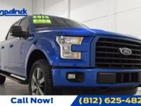 CARFAX One-Owner. Blue 2015 Ford F-150 4WD 6-Speed
