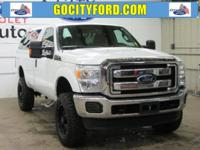 New Price! Clean CARFAX. Oxford White 2015 Ford F-250SD
