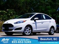 2015 Ford Fiesta in White. Traction control means the