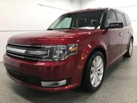 Options:  2015 Ford Flex Sel|Red|Recent Arrival!